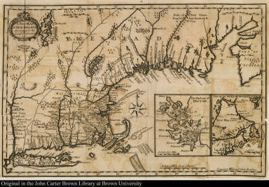 A Map of New England According to the Latest Observation 1720