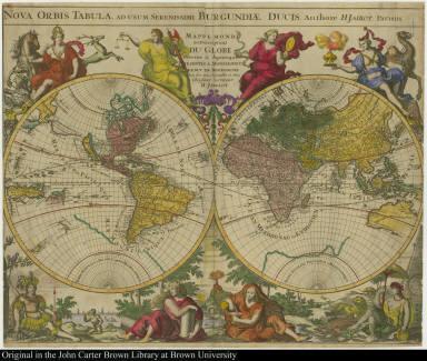 Nova orbis Tabula ... Mappemonde ou Description du Globe Terrestre & Aquatique
