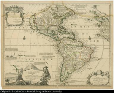 L'Amerique meridionale, et septentrionale.