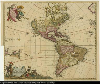 Novissima et Accuratissime Septentrionalis ac Meridionalis Americae Descriptio