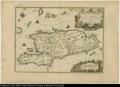 L'Isle St. Domingue ou Espagnole Decouverte l'an 1492. Par les Espagnols