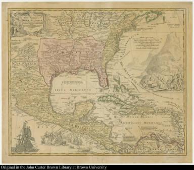 Regni Mexicani seu Novae Hispaniae Ludovicianae N Angliae ... in America Septentrionali accurate Tabula exhibita