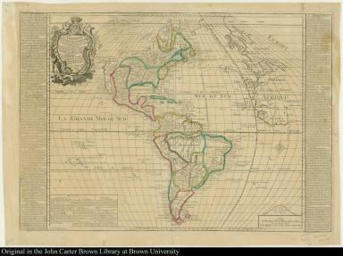 L'Amérique Septentrionale et Méridionale divisée selon les differentes possessions