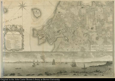 To His Excellency Sir Henry Moore ... This Plan of the City of New York, and its Environs Survey'd ... B. Ratzer Lieut. in His Majestys 60th. or Royal American Regt.