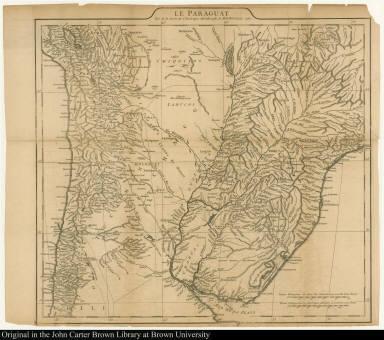 Le Paraguay Tiré de la Carte de l'Amérique Mérionale de Mr. D'Anville