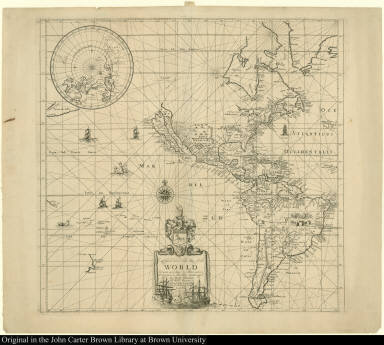 To Capt. John Wood this Map of the World Drawn acording to Mercators Projection is humbly Dedicated