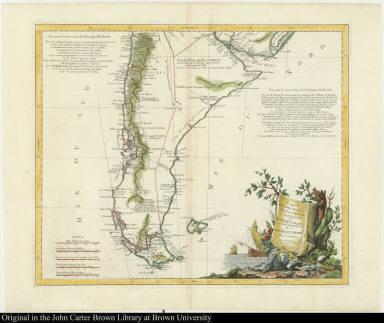 Carte du Chili Méridional du Rio de la Plata, des Patagons, et du Détroit de Magellan; Ce qui fait l'extremité Australe de l'Amerique Merid[iona]le