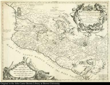 Parte della Nuova Spagna, ò del Mexico doue sono le Prouincie di Guadalaira Xalisco Mecoacan e Mexico