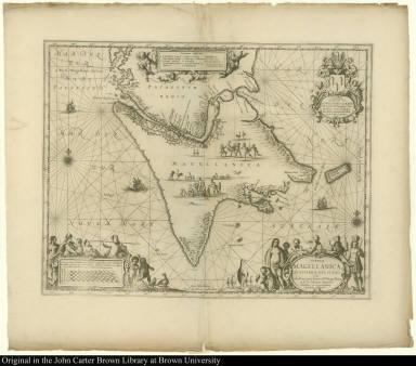 Tabula Magellanica qua Tierrae del Fuego Cum celeberrimis fretis a F. Magellano et I. Le Maire detectus Novissima et accuratissima descriptio exhibetur.