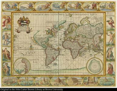 Nova totius terrarum orbis geographica ac hydrographica tabula.