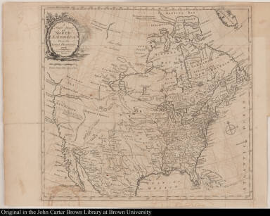 A New Map of North America, From the Latest Discoveries 1778