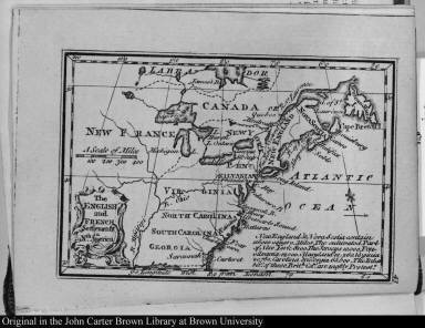 The English and French Settlements in Nth. America