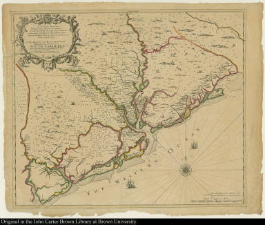 To the Right Honorable William Earl of Craven Palatine ... This New Map of the Cheif Rivers, Bayes, Creeks, Harbours, and Settlements in South Carolina ...