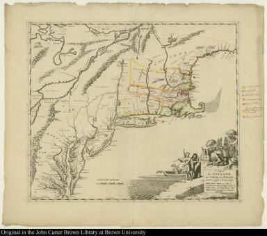 A Map of New England New Yorke New Iersey Mary-Land & Virginia