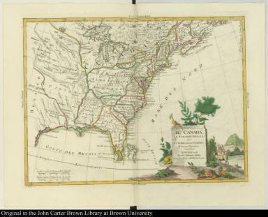 Il Canadá, Le Colonie Inglesi con La Luigiana, e Florida di nuova Projezione