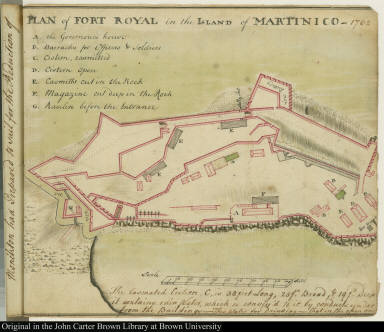 Plan of Fort Royal in the Island of Martinico -- 1762