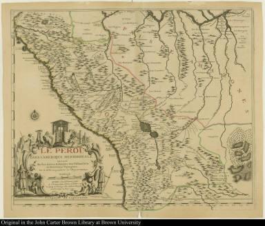 Le Perou dans l'Amerique meridionale, Dressé Sur les Divers Relations des Flibustiers et Nouveaux Voyageurs.