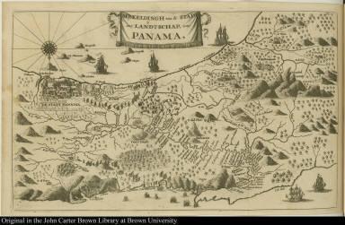 Afbeeldingh van de stadt en t' Landtschap, van Panama