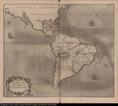 Mappa Fluxus et Refluxus rationes in Isthmo Americano, in Freto Magellanico, caeterisque Americae Litoribus exhibens.