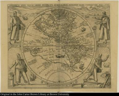 America sive Novus orbis respectu Europaeorum inferior globi terrestris pars 1596