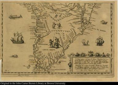 [Nova et exacta delineatio Americae partis australis que est: Brasilia, Caribana, Guiana regnum Novum ...]