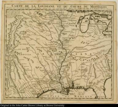 Carte de la Louisiane et du Cours du Mississipi ...