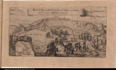 Abriss der Baya und Meerbusems de Todos os Sanctos und o Statt S Salvador von Hollandern eingenomen.