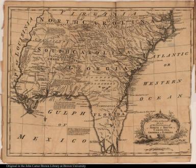A New & Correct Map of the Provinces of North & South Carolina, Georgia, & Florida