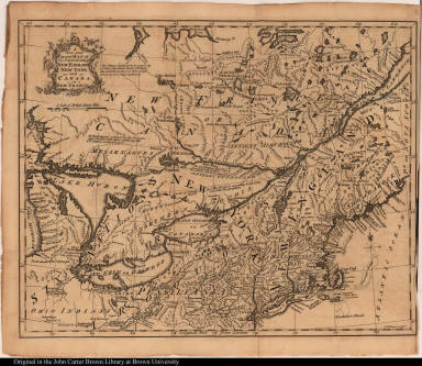 A New and Correct Map of the Provinces of New England, New York, and Canada, or New France.