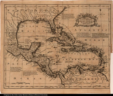 A New and Correct Map of the West Indies, Drawn from the Best Authorities.