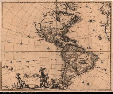 Novissima et Accuratissima Totius Americae descriptio per Gerardum a Schagen.