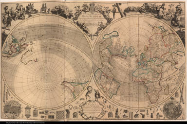 A New and Correct Map of the World Projected upon the Plane of the Horizon laid down from the Newest Discoveries and most Exact Observations