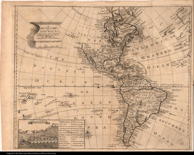 A New General Map of America Drawn from several Accurate particular Maps and Charts ...