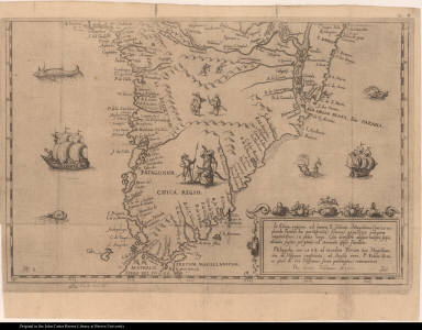 [Map of southern South America and Tierra del Fuego]
