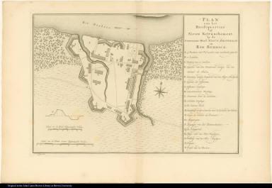 Plan van het Hoostquartier of Nieuw Retranchement. by de Geweezene Stad Nieuw Amsterdam in Rio Berbice.
