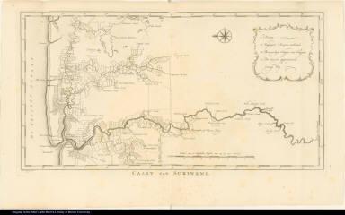 Caart van Suriname.