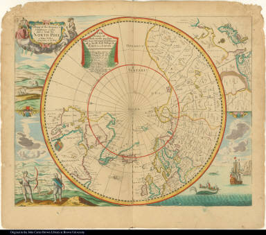 A Mapp of the Regions & Countreyes under and a bout [about] the North Pole