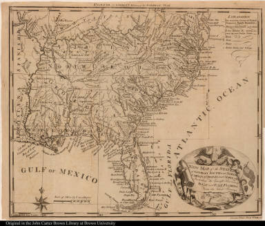 New Map of the States of Georgia South and North Carolina Virginia and Maryland Including the Spanish Provinces of West and East Florida From the latest Surveys.