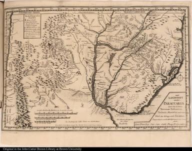 Die Landschaft nider=Paraguaria, Samt den Ländern Tucuman, Tscharvas, Tschaco, Mocobis, und einem Theil des Königreichs Tschili.