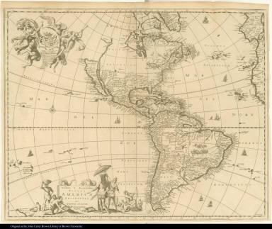 Novissima et Accuratissima Totius Americae descripto per Johanem Ogiluium