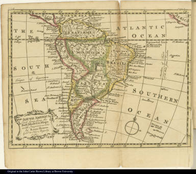 South America Laid down from the Best Modern Maps with Improvements