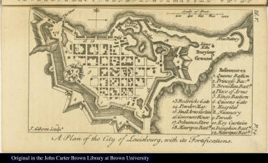 A Plan of the City of Louisbourg, with its Fortifications.