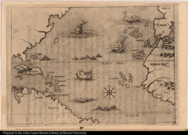 [Map illustrating the voyage of Christopher Columbus]