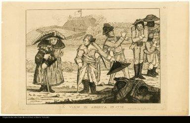 A VIEW IN AMERICA IN 1778.