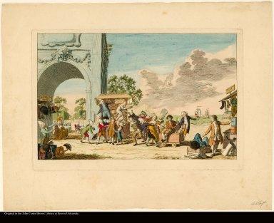 [VI DER EERSTE OECONOMISCHE PLAAT. EEN JONGEN RYKEN HOLLANDER]. [The first economic print. A rich young Dutchman.]