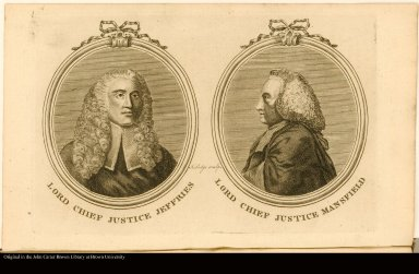 LORD CHIEF JUSTICE JEFFRIES. LORD CHIEF JUSTICE MANSFIELD.