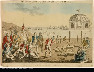 The ROYAL HUNT, or a PROSPECT of theYEAR 1782.