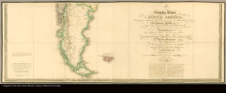 Colombia Prima or South America in which it has been attempted to delineate the extent of our knowledge of that Continent. Extracted chiefly from the original manuscript maps of His Excellency the late Chevalier Pinto; likewise from those of João Joaquim da Rocha, João da Costa Ferreira; El Padre Francisco Manuel Sobreviela & c. and from the most authentic edited accounts of those countries digested & constructed by the late ... Louis Stanislas D'Arcy De La Rochette