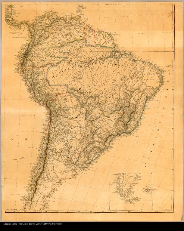 [Map of South America]