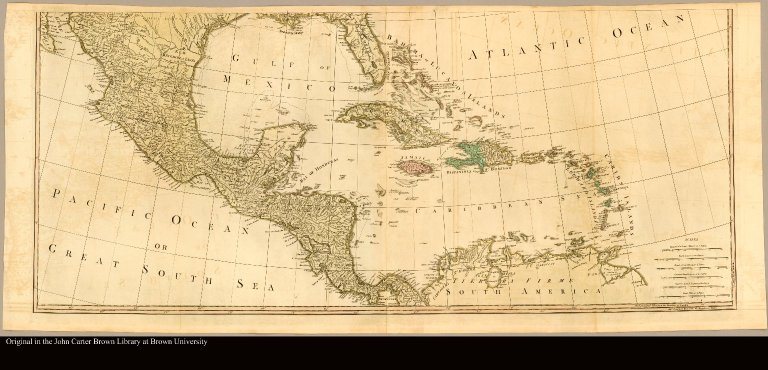 [Map of Central America and the West Indies]